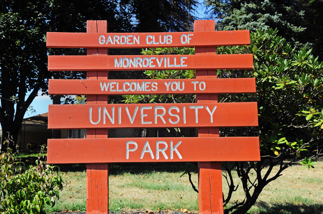 GCM Welcome Sign at University Park