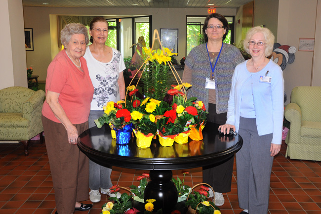 Dottie York, Chairperson; Shirley Brody, President, Garden Club of Monroeville;