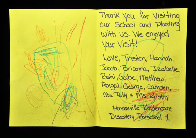 Thanks from KinderCare children!